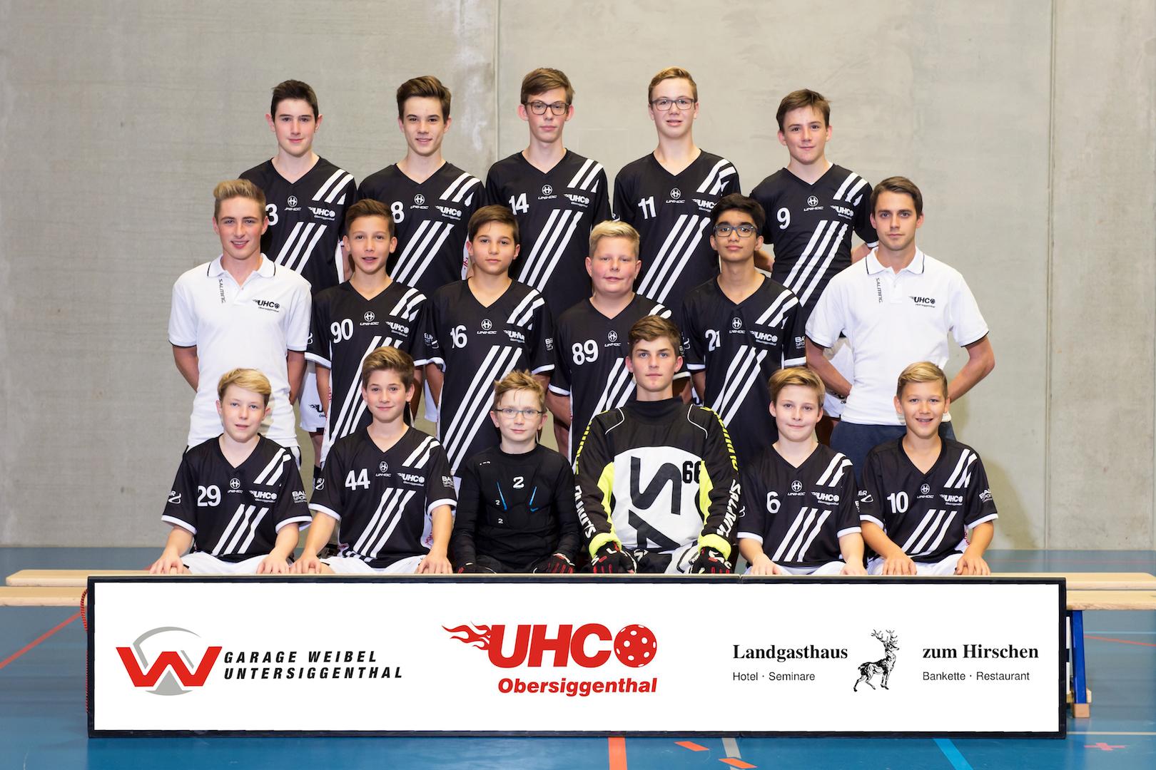 Teamfoto Junioren U16 2017/18